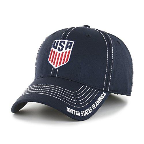 World Cup Soccer United States Adult Start Line Ots Center Stretch Fit Hat, Medium/Large, Navy-US Men's -
