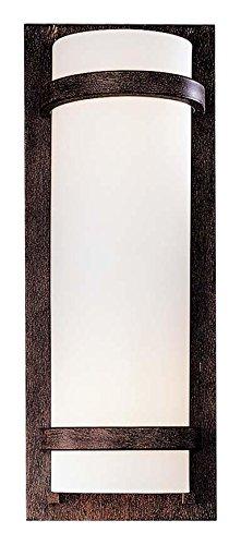 - Minka Lavery Wall Sconce Lighting 341-357, Glass Damp Bath Vanity Fixture, 2 Light, 200 Watts, Iron