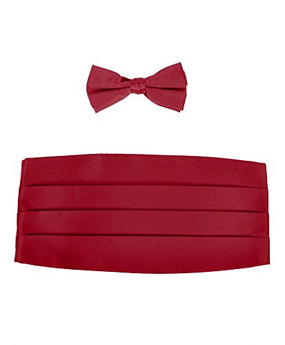 Men%27s+Poly+Satin+Bow+Tie+and+Cummerbund+Sets%2C+Wine