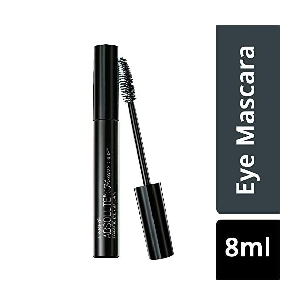 Lakmé Absolute Flutter Secrets Dramatic Eyes Mascara, Black, 8ml 2021 August Long-term curl formula Lash multiplying and volumising Opthalmologically tested