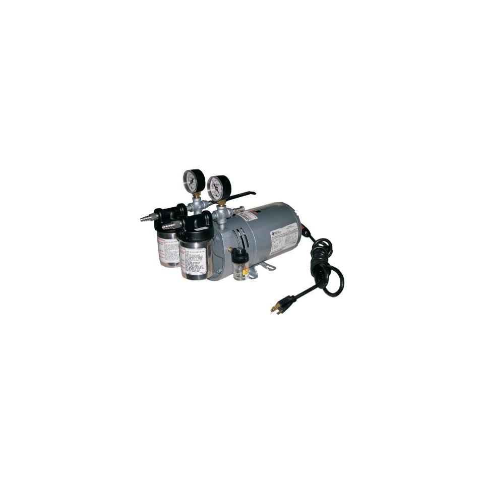 Gast 0523 V4 SG588DX Portable Rotary Vane Vacuum Pump, 100 115 V, 50/60 Hz, 4.5 cfm