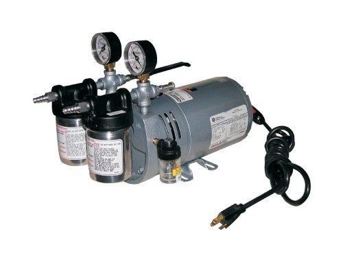 Gast 0523-V4-SG588DX Portable Rotary Vane Vacuum Pump, 100-115 V, 50/60 Hz, 4.5 cfm by Gast