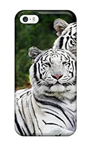 BUVZVrv3215sAyXm Snap On Case Cover Skin For Iphone 5/5s(white Bengal Tigers)