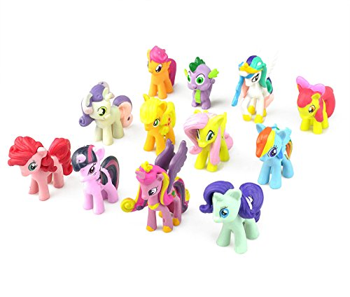 PD Store USA Fast Ship 12 My Little Pony PVC Figure Cup Cake Topper Colorful Dash Playset (Miss Cake My Little Pony)