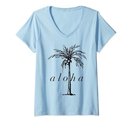 Womens AlOHA Hawaii T-shirt from the island. Feel the Aloha Spirit V-Neck T-Shirt