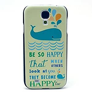 LZX Happy Swimming Dolphin Pattern Plastic Protective Back Cover for Samsung Galaxy S4 I9500
