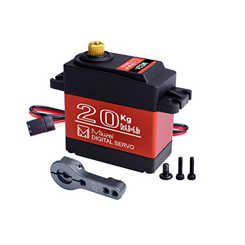 Miuzei 20KG Digital Servo Motor High Torque Servo Metal Waterproof Servo for R/C Car Robot, DS3218 Control Angle 270°