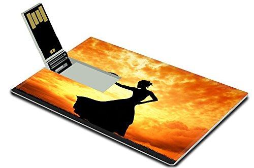 [Luxlady 4GB USB Flash Drive 2.0 Memory Stick Credit Card Size IMAGE ID 21164069 Woman dancing] (Female Flamenco Dancer Costumes)