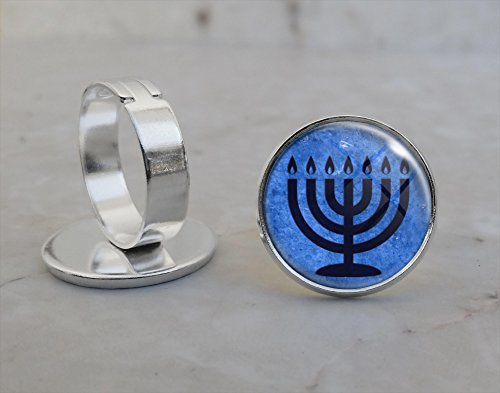 Menorah Adjustable Ring Menorah Ring