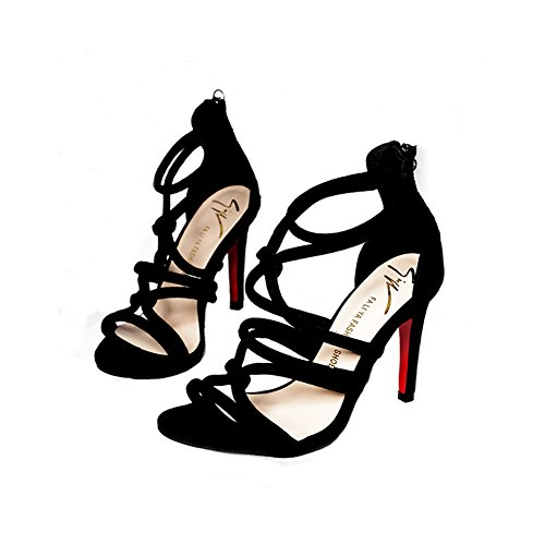 Ytzada High Heel Shoes For Women Fashion Pointed Toe Ankle Strappy