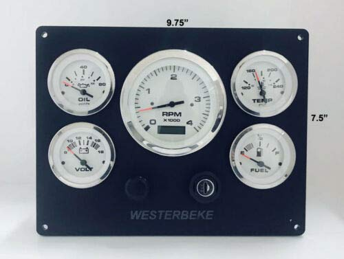 (Westerbeke Instrument Panel/Pre Wired/Ready to Install/Made in USA)