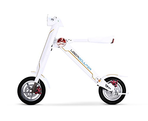 The Uber Scuuter Plus - The Electric Foldable Scooter Bike (White)