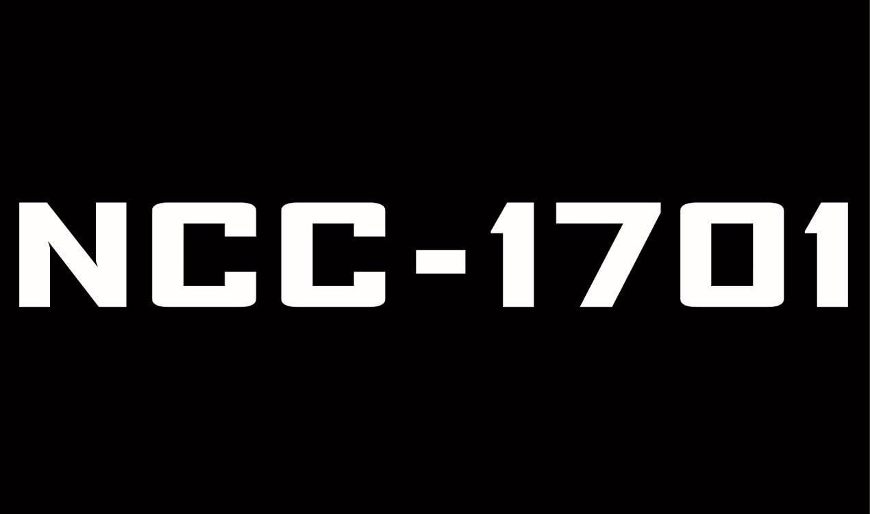 Free Ship Choose Size /& Color Star Trek NCC-1701 Sticker Vinyl Decal