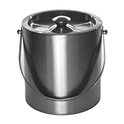Mr. Ice Bucket Brushed Stainless Steel Ice Bucket