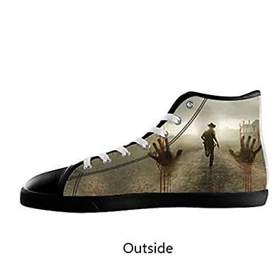 Amazon.com | Custom Men Walking Dead Canvas Shoes High Top ...