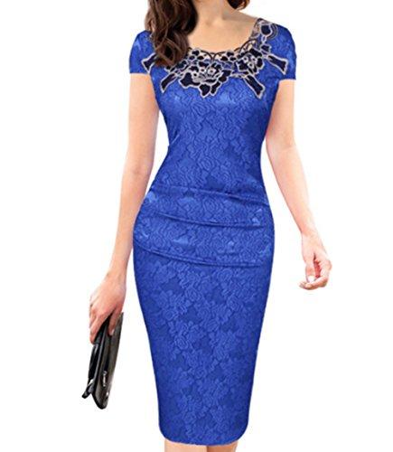 Vickyben - Vestido - para mujer azul real