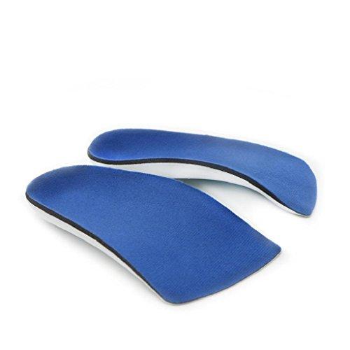 MagiDeal 1 Paar Unisex Fußpflege Einlegesohlen Schuhkissen 3/4 Bogen Stütz Schuh Einsatz