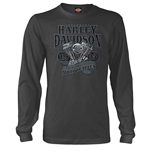 Harley-Davidson Military - Men's Long-Sleeve Graphic T-Shirt - Overseas Tour | Big V-Twin LG