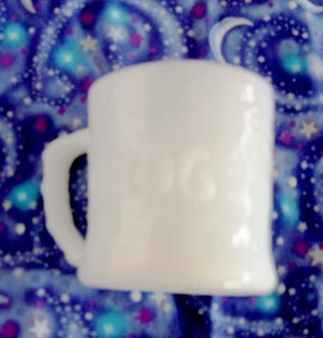 Vintage White Fire King - Vintage White Milk Glass Grog the Caveman Animated Comic Figure Coffee Cup Mug