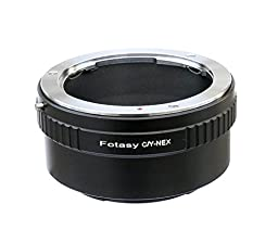 Fotasy  Contax Zeiss C/Y Lens to Sony E-Mount NEX Camera NEX-5R NEX-5T NEX-6 NEX-7 a6500 a6300 a6000 a5100 a5000 a3500 a3000 NEX-VG30 NEX-VG900 NEX-FS100 NEX-FS700 NEX-EA50 PXW-FS7 Adapter