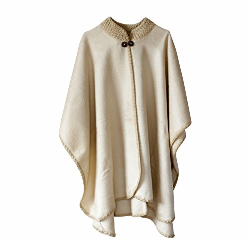 DesiDo® - Poncho - capa - para mujer Beige