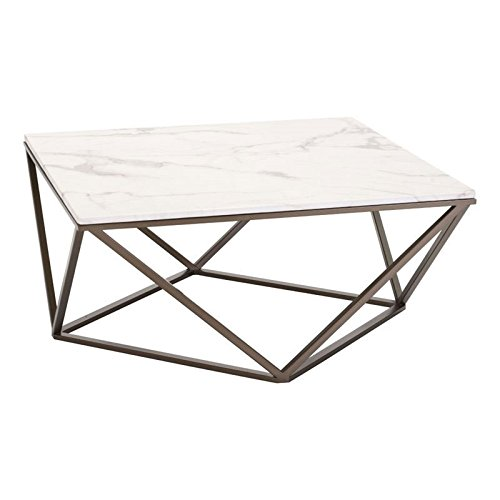Prices For Marble Top Coffee Tables: Maklaine Faux Marble Top Coffee Table In Stone And Antique