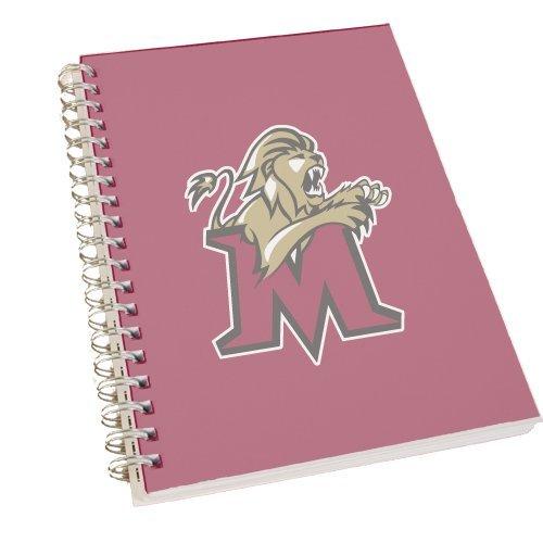 CollegeFanGear Molloy Clear 7 x 10 Spiral Journal Notebook 'Official Logo - M w/Lion' by CollegeFanGear