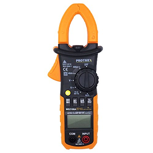 VLIKE PT05 Digital AC/DC Clamp On Meter, Auto-Ranging AC / DC Voltage Test and AC 600 AMPS Meter, Auto/Manual Range Digital Hand-held Multimeter