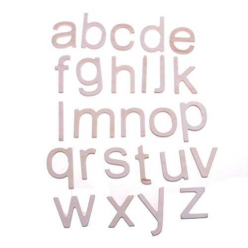 BCP 2 Sets of 26 a to z Wood Craft Plywood Wooden Lower Case Letters Alphabet Letters, (Letter Z Crafts)