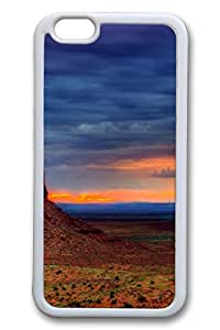 iPhone 6 Case - Beautiful Sky Colors Beautiful Scenery Pattern Rubber White Case Cover Skin For iPhone 6 (4.7 inch)