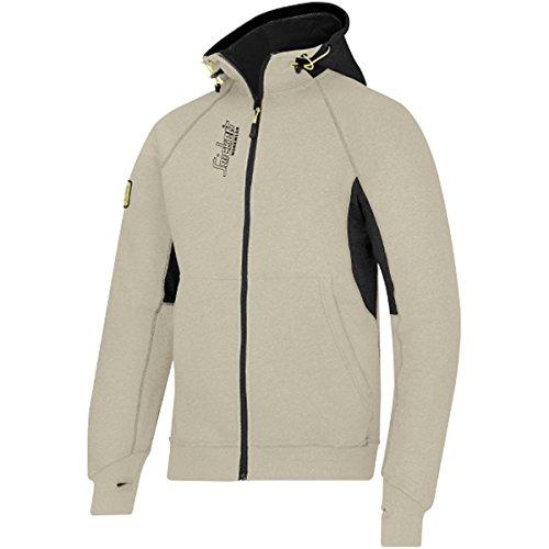 Snickers 28162004003Größe XS Logo Hoodie mit Reißverschluss–Khaki/Schwarz