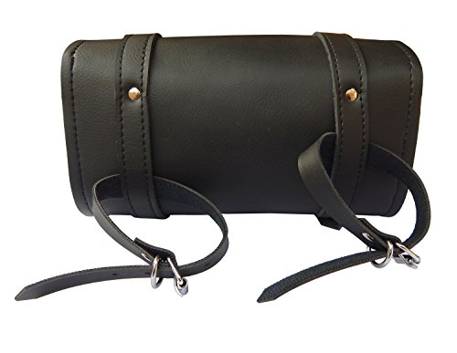 ARD CHAMPS Motorcycle Tool Bag Handlebar Saddle Bag PU Leather Storage Tool Pouch 2 Strap Closure by ARD CHAMPS (Image #3)
