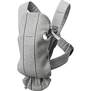 BABYBJÖRN Porte-bébé Mini, 3D Jersey, Gris clair