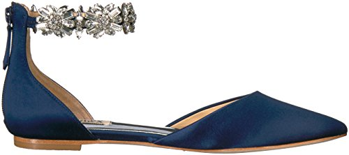 Badgley Mischka Womens Morgen Mary Jane Flat Midnight