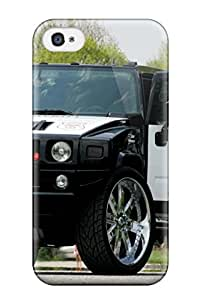 Fashion Tpu Case For Iphone 4/4s- Hummer Police Car Defender Case Cover 5814075K90601460