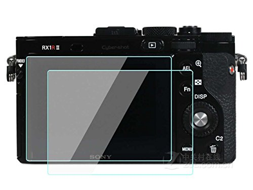 2 Pack Sony DSC-RX1 R & RX1 RII Digital Still Camera Screen Protector Tempered Glass for Sony Cyber-shot DSC-RX1 R & RX1 RII Digital Still Camera