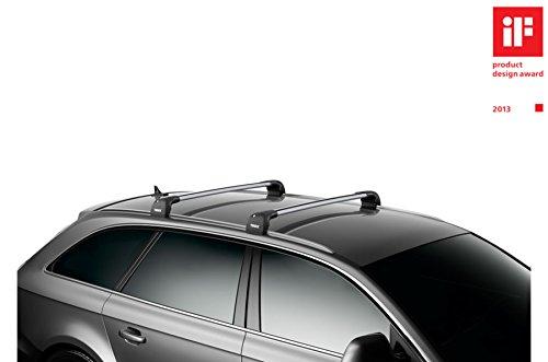Thule WingBar Edge 90400688 Komplett System inkl Schloss f/ür AUDI A6 Avant C7 Der leise und sichere Lastentr/äger