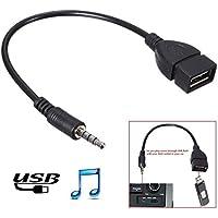 kaiyuan (3,5mm Stecker AUX Audio Plug Jack zu USB 2.0Buchse Konverter Kabel Schnur