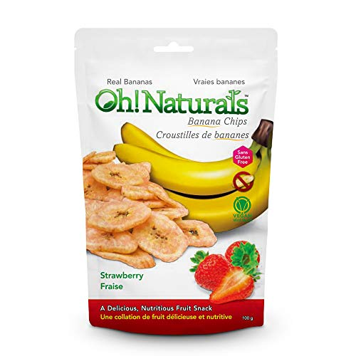 Oh! Naturals Strawberry Banana Chips, Gluten free,Nut Free, Crunchy, Delicious, Nutritious, Dried Fruit Snack, Fruit…