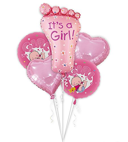 SGODA It's A Girl Mylar Balloon Baby Shower