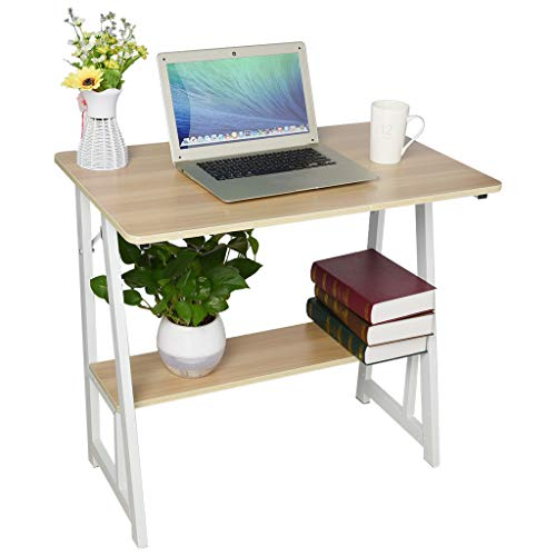 Lefthigh Desktop Work Computer Desk, Home Office Simplicity Writing Learning Table Two Shelf Desk 31.5×19.7Inch US Stock - Writing Stock