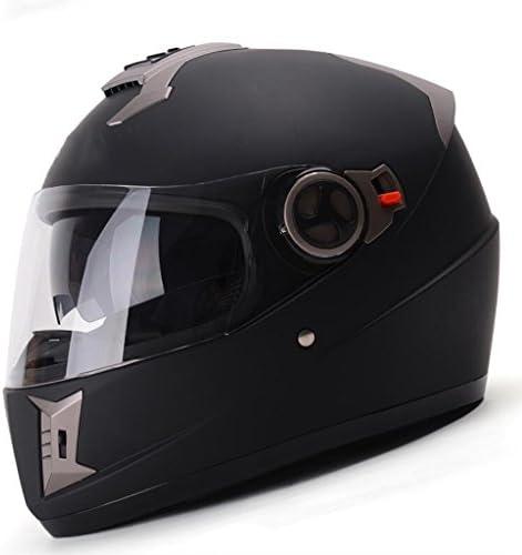 XINGZHE ヘルメット - オートバイヘルメットダブルレンズフルヘルメットカバー四季ユニバーサルヘルメットレーシング安全ヘルメット 安全ヘルメット