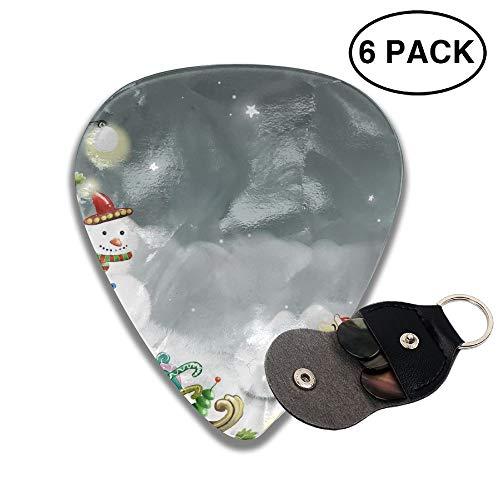 (Cute Snowball Santa Claus Small Medium Large 0.46 0.71 0.96mm Mini Flex Assortment Celluloid Top Classic 351 Rock Electric Acoustic Guitar Pick Accessories Variety Pack Collectors)