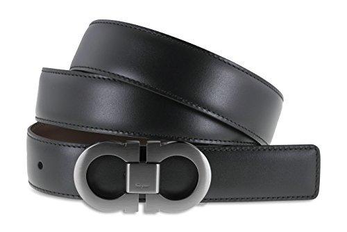 75804531f70d Salvatore Ferragamo Reversible Adjustable Leather Belt - Black  Amazon.ca   Watches