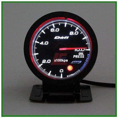 60mm def advanced Tacho tachometer RPM gauge Amber red// white lights black face