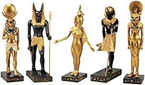 Unique statue of Egyptian god Anubis 2 style Black  white heavy stone made in egypt