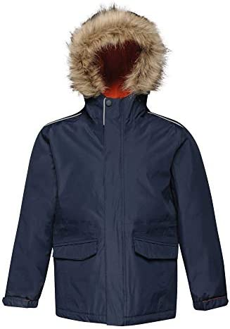 Regatta Professional Kids Cadet Waterproof Insulated Faux Fur Hooded Parka Jacket With Safety Reflective Detail Chaqueta Beb/é-Ni/ños