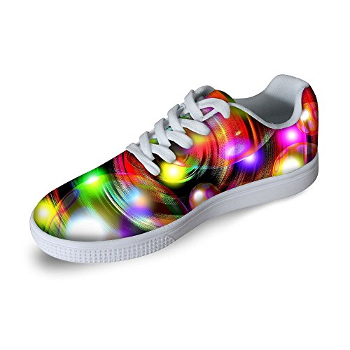 Per Te Disegni Cool Mens Graffiti Low Top Comode Scarpe Da Skateboard Stringate Sneaker Multi 4