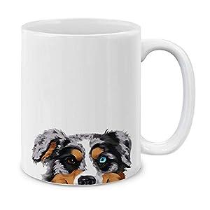 MUGBREW Merle Aussie Australian Shepherd Dog Ceramic Coffee Gift Mug Tea Cup, 11 OZ 2