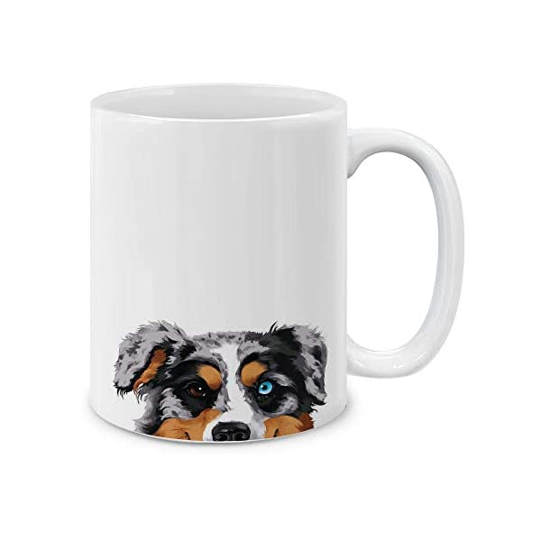 MUGBREW Merle Aussie Australian Shepherd Dog Ceramic Coffee Gift Mug Tea Cup, 11 OZ 1